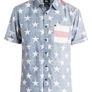 Quiksilver MERICAN Men's PATRIOTIC Shirt Size M